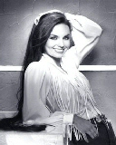 Free Crystal Gayle Black and White.jpg phone wallpaper by zestyred