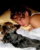 Miley Cyrus & Sofie Sleeping