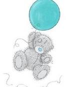 Tatty Teddy Blue Balloon wallpaper 1