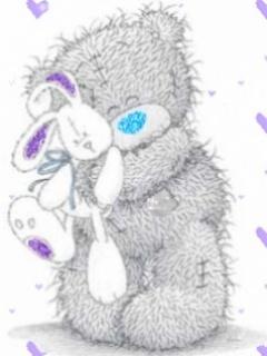 Free Tatty Teddy Hugging Bunny phone wallpaper by samanthaord