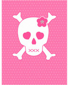 pink skull wallpaper 1
