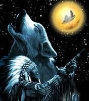 Free Native American Wolf phone wallpaper by elvamp
