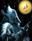 Native American Wolf wallpaper 1