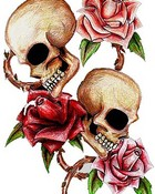 Skulls_and_roses_3_by_monjesse
