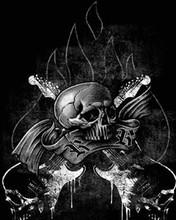 Free 148635-Skull-Guitars.jpg phone wallpaper by killac14