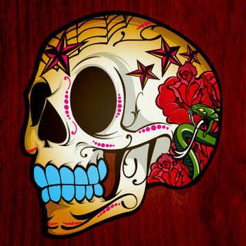 Free tattooed skull.jpg  phone wallpaper by xgnossongx