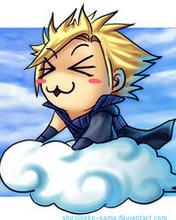 Free chibi cloud phone wallpaper by briznatch