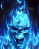 Free skull on fire phone wallpaper by rmpalmiter1021
