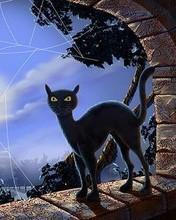Free Black Cat phone wallpaper by ispy1959
