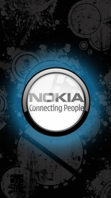 Free Nokia: Connecting People (Black & Blue) phone wallpaper by paqueretozen02