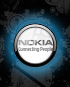 Nokia: Connecting People (Black & Blue) wallpaper 1