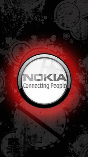 Free Nokia: Connecting People (Black & Red) phone wallpaper by paqueretozen02