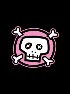 Free Pink Skull.jpg phone wallpaper by fyrelilly