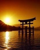 japan at sunset