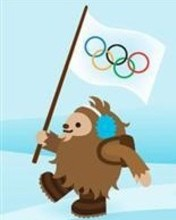 Free Quatchi with the Olympic Flag phone wallpaper by discoroux