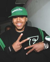 chris brown in eagles stiuff