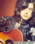 Jimmy Page with acoustic guitar