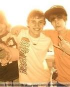 justin and his friends at the bahamas