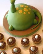 cute-food-dinosaur-with-eggs-cake. wallpaper 1