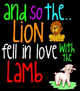 Free and so the lion fell in love with the lamb.jpg phone wallpaper by missbipolarbears
