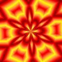 Free Fire Orange Kaleidoscope.jpg phone wallpaper by rjnutter