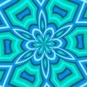 Free Neon Aqua Kaleidoscope.jpg phone wallpaper by rjnutter