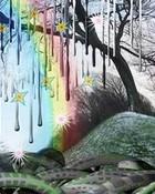 colorful rain! wallpaper 1