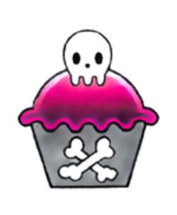 Free skull cupcake phone wallpaper by missdivalicious
