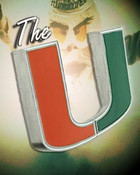 Miami Hurricanes The U w/smoke & Sebastian