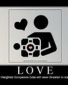 Companion Cube: Love wallpaper 1