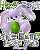 cute happy easter bunny wallpaper 1