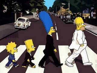 Free The Simpsons cross Abbey Road.jpg phone wallpaper by dirtyfrank81