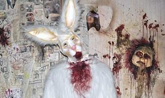 Free halloween killer bunny.jpg phone wallpaper by panda1122