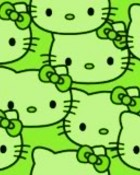GREEN HELLO KiTTY