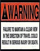 Warning wallpaper 1