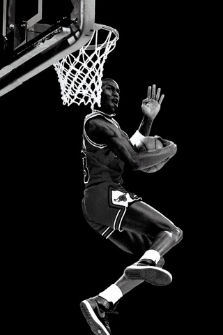 Free Chicago Bulls B&W Michael Jordan iphone.jpg phone wallpaper by chucksta