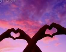 Free pink hearts sunset phone wallpaper by cuteblkchik05