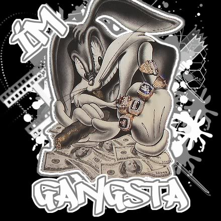 Free Gangsta Bugs Bunny phone wallpaper by uzueta