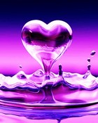 Purple Pink Water Heart