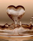 Brown Water Heart