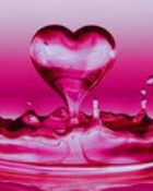 Pink Water Heart wallpaper 1