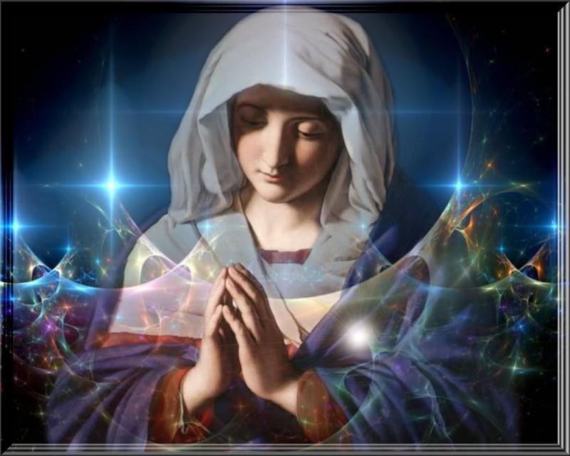 Free Virgin Mary phone wallpaper by uzueta