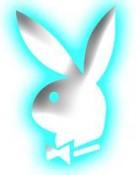 Blue Playboy Bunny