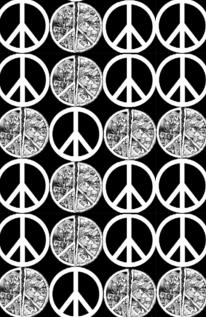 Free Peace Signs (Gray and Black) phone wallpaper by elenaepidemic