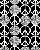 Peace Signs (Gray and Black) wallpaper 1