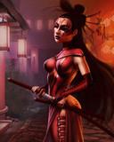 Free Samurai Girl phone wallpaper by szekusz