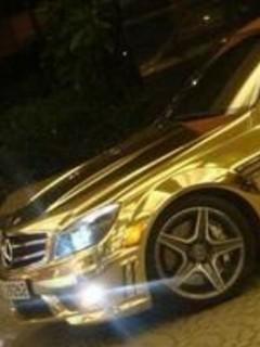 Free Golden Mercedes phone wallpaper by rex_66