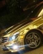 Golden Mercedes wallpaper 1