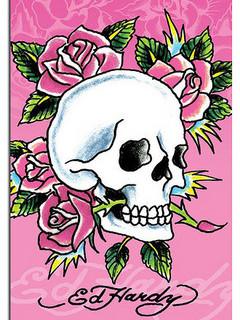 Free Ed Hardy Skull phone wallpaper by rex_66