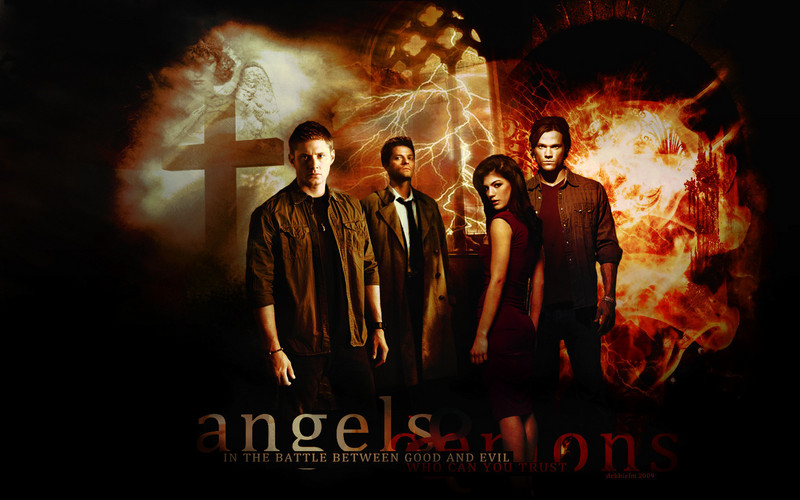 Free Supernatural Angels and Demons  phone wallpaper by stacey8